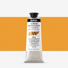 Vallejo : Artist Acrylic Paint : 60ml : Transparent Orange