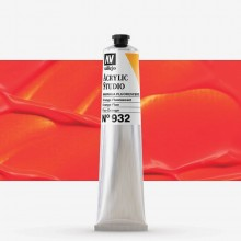 Vallejo : Studio Acrylic Paint : 58ml : Orange Fluorescent
