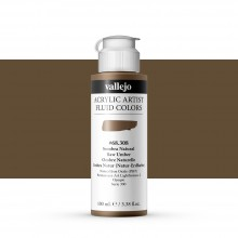 Vallejo : Fluid Artist Acrylic Paint : 100ml : Raw Umber