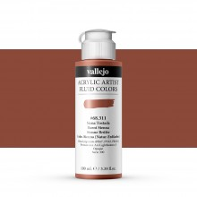 Vallejo : Fluid Artist Acrylic Paint : 100ml : Burnt Sienna