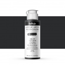Vallejo : Fluid Artist Acrylic Paint : 100ml : Ivory Black