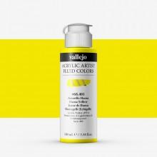 Vallejo : Fluid Artist Acrylic Paint : 100ml : Hansa Yellow