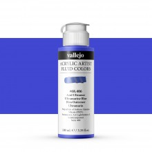 Vallejo : Fluid Artist Acrylic Paint : 100ml : Ultramarine Blue