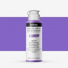Vallejo : Fluid Artist Acrylic Paint : 100ml : Ultramarine Violet