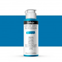 Vallejo : Fluid Artist Acrylic Paint : 100ml : Cyan Blue