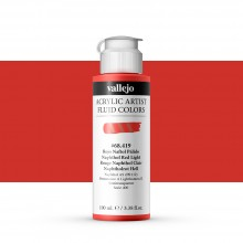 Vallejo : Fluid Artist Acrylic Paint : 100ml : Naphthol Red Light