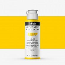 Vallejo : Fluid Artist Acrylic Paint : 100ml : Hansa Yellow Opaque