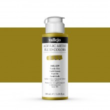 Vallejo : Fluid Artist Acrylic Paint : 100ml : Green Gold