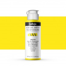 Vallejo : Fluid Artist Acrylic Paint : 100ml : Fluorescent Yellow
