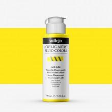 Vallejo : Fluid Artist Acrylic Paint : 100ml : Fluorescent Yellow