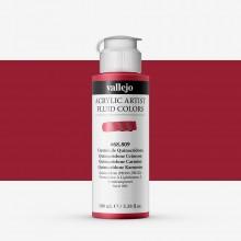 Vallejo : Fluid Artist Acrylic Paint : 100ml : Quinacridone Crimson