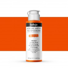 Vallejo : Fluid Artist Acrylic Paint : 100ml : Pyrrole Orange
