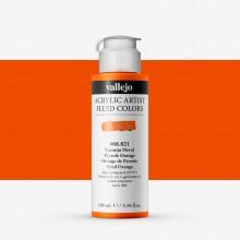 Vallejo : Fluid Artist Acrylic Paint : 100ml : Pyrrole Orange
