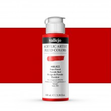 Vallejo : Fluid Artist Acrylic Paint : 100ml : Pyrrole Red