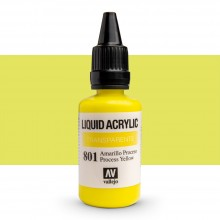 Vallejo : Liquid Acrylic Paint : 32ml : Process Yellow