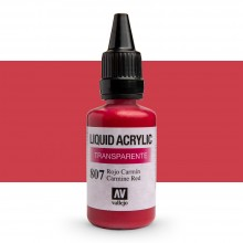 Vallejo : Liquid Acrylic Paint : 32ml : Carmine Red