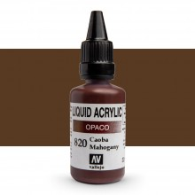 Vallejo : Liquid Acrylic Paint : 32ml : Mahogany