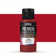 Vallejo : Premium Airbrush Paint : 60ml : Bright Red