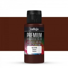 Vallejo : Premium Airbrush Paint : 60ml : Sepia