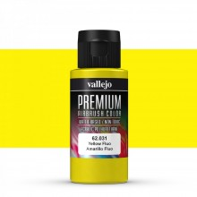 Vallejo : Premium Airbrush Paint : 60ml : Yellow Fluorescent