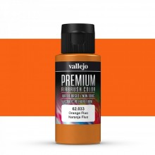 VALLEJO : PREMIUM AIRBRUSH PAINT : 60ML : ORANGE FLUORESCENT