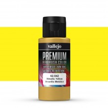 Vallejo : Premium Airbrush Paint : 60ml : Metallic Yellow