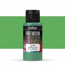 Vallejo : Premium Airbrush Paint : 60ml : Metallic Green