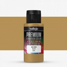 Vallejo : Premium Airbrush Paint : 60ml : Metallic Gold