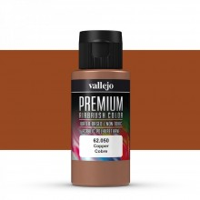 Vallejo : Premium Airbrush Paint : 60ml : Metallic Copper