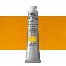 Winsor & Newton : Professional : Acrylic Paint : 200ml : Azo Yellow Deep
