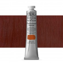 Winsor & Newton : Professional : Acrylic Paint : 200ml : Burnt Sienna