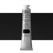 Winsor & Newton : Professional : Acrylic Paint : 200ml : Ivory Black