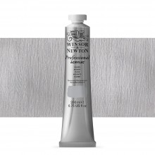 Winsor & Newton : Professional Acrylic Paint : 200ml : Silver