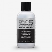 Winsor & Newton : Professional : Acrylic Medium : Matt UV Varnish : 125ml