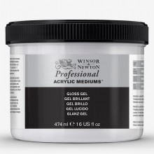 Winsor & Newton : Professional : Acrylic Medium : Gloss Gel : 474ml