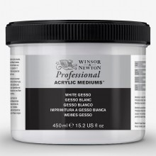 Winsor & Newton : Professional : Acrylic Medium : White Gesso Primer : 450ml