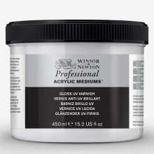 Winsor & Newton : Professional : Acrylic Medium : Gloss UV Varnish : 450ml