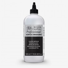 Winsor & Newton : Professional Acrylic : Glazing Medium 500ml
