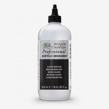 Winsor & Newton : Professional : Acrylic Medium : Gloss Medium 500ml