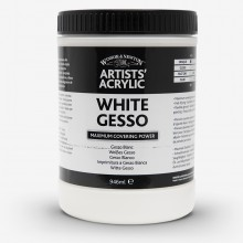 Winsor & Newton : Professional : Acrylic Medium : White Gesso Primer : 946ml