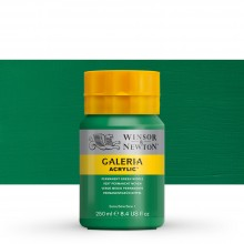 Winsor & Newton : Galeria : Acrylic Paint : 250ml : Permanent Green Middle