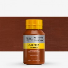 Winsor & Newton : Galeria : Acrylic Paint : 500ml : Burnt Sienna Opaque