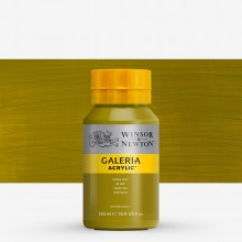 Winsor & Newton : Galeria : Acrylic Paint : 500ml : Green Gold
