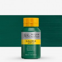 W&N : Galeria : Acrylic Paint : 500ml : Permanent Green Deep