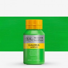 W&N : Galeria : Acrylic Paint : 500ml : Permanent Green Light
