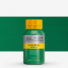 Winsor & Newton : Galeria : Acrylic Paint : 500ml : Permanent Green Middle