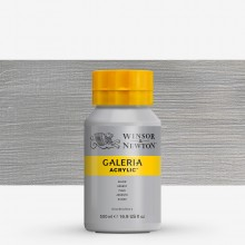 Winsor & Newton : Galeria : Acrylic Paint : 500ml : Metallic Silver