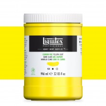 Liquitex : Professional : Heavy Body Acrylic Paint : 946ml : Cadmium-Free Yellow Light
