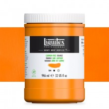 Liquitex : Professional : Heavy Body Acrylic Paint : 946ml : Cadmium-Free Orange