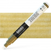 Liquitex : Professional : Marker : 2-4mm Chisel Nib : Iridescent Antique Gold